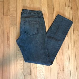 Medium wash mid-rise jeans